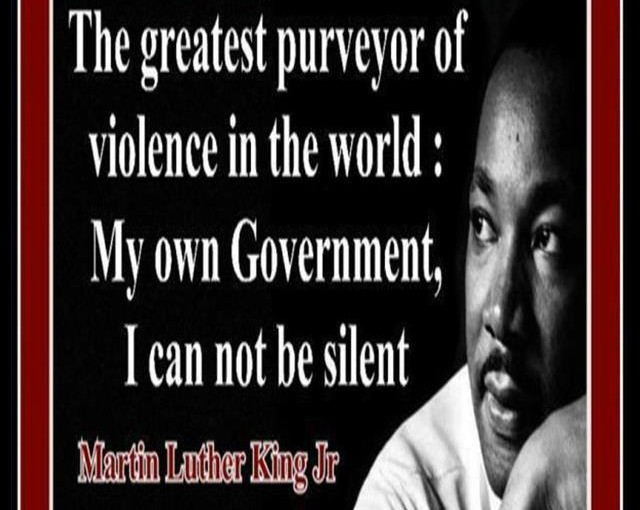 The greatest purveyor of violence in the world is the U.S.A